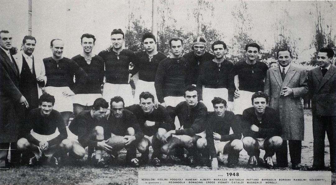 La prima formazione documentata del Rugby Parabiago! Anno 1948, la storia comincia da qui!